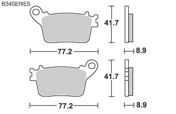【SBS】Street Ceramic 834HF 煞車來令片 - 「Webike-摩托百貨」
