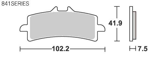 【SBS】Street Excel Sinter 841HS 煞車來令片 - 「Webike-摩托百貨」
