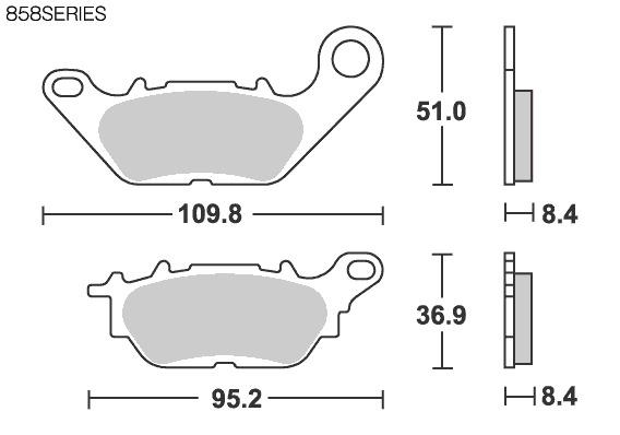 【SBS】Street Ceramic 858HF 煞車來令片 - 「Webike-摩托百貨」