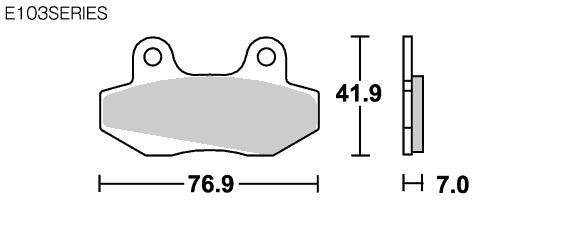 【SBS】Street ceramic E103 煞車來令片 - 「Webike-摩托百貨」