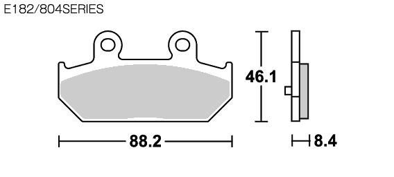 【SBS】Street Ceramic E182 煞車來令片 - 「Webike-摩托百貨」