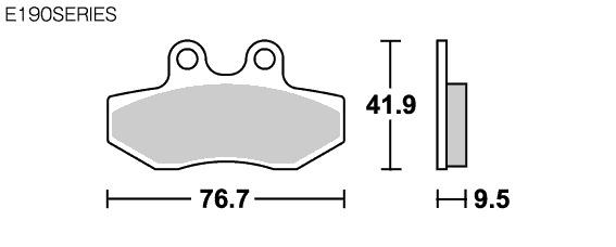 【SBS】Street Ceramic E190 煞車來令片 - 「Webike-摩托百貨」