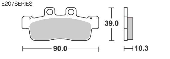 【SBS】Street Ceramic E207 煞車來令片 - 「Webike-摩托百貨」