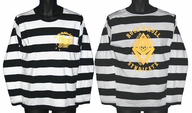 【MOTOBLUEZ】ROCKN ROLL SYNDICATE 粗橫條紋 長袖T恤 - 「Webike-摩托百貨」