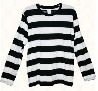 【MOTOBLUEZ】5oz 粗橫條紋 長袖T恤 - 「Webike-摩托百貨」