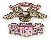 【HARLEY-DAVIDSON】哈雷飾徽 美國製 EAGLE S - 「Webike-摩托百貨」