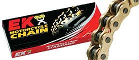 【EK CHAIN】On Road Race 用競賽鏈條 QX油封鏈條金色系列520RXO(GP/GP) - 「Webike-摩托百貨」