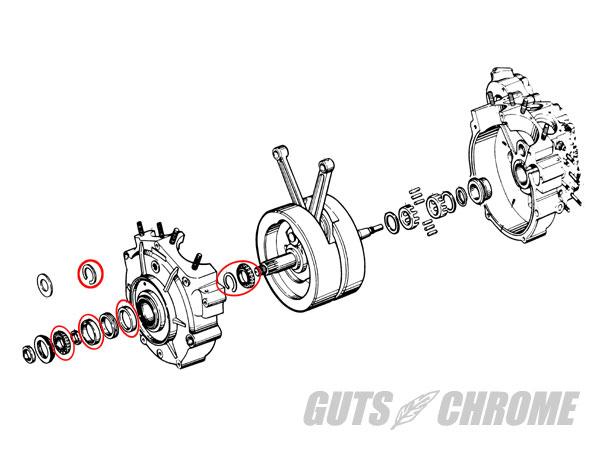 【GUTS CHROME】TIMKEN 左 曲軸箱 軸承 - 「Webike-摩托百貨」
