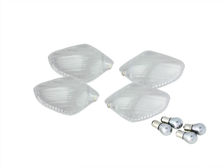 【ENDURANCE】透明方向燈燈殼組 (電鍍燈泡) - 「Webike-摩托百貨」