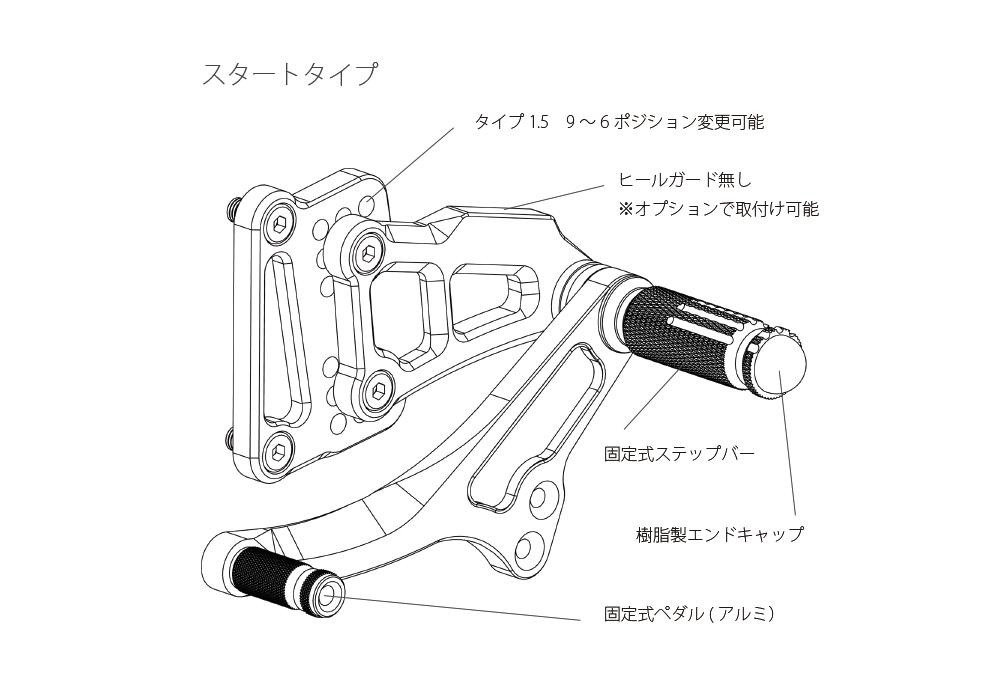 【Valter Moto Components】腳踏後移套件 Type 1.5 - 「Webike-摩托百貨」
