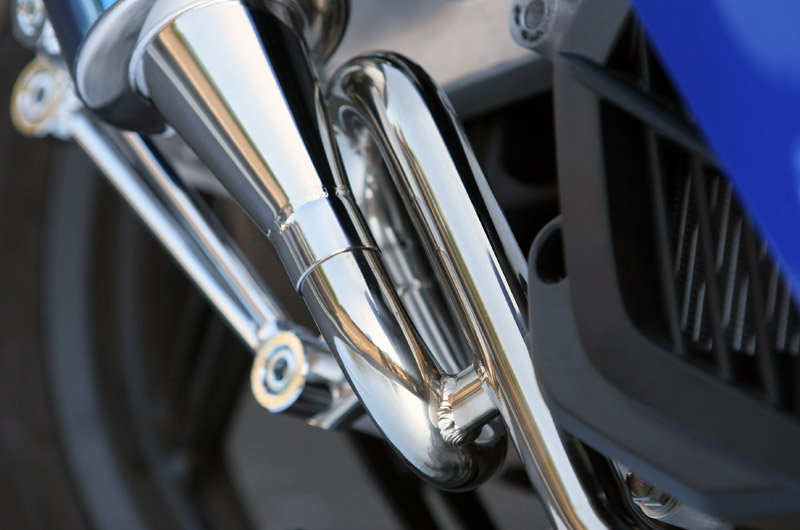 【SP忠男】Pure Sport  S 金色飾徽鈦合金全段排氣管 (鈦藍) - 「Webike-摩托百貨」