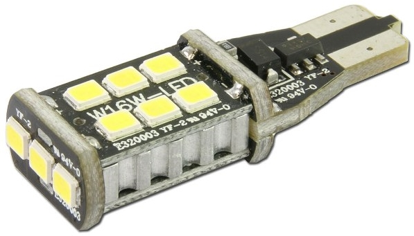 【RISE CORPORATION】15顆 T10/T15/T16 SMD/LED 楔形燈泡 (單芯燈泡 附警告燈消除器) - 「Webike-摩托百貨」