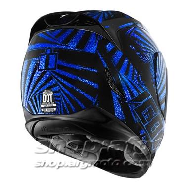 【ICON】HELMET AM SPAZTYK BLUE 安全帽 - 「Webike-摩托百貨」