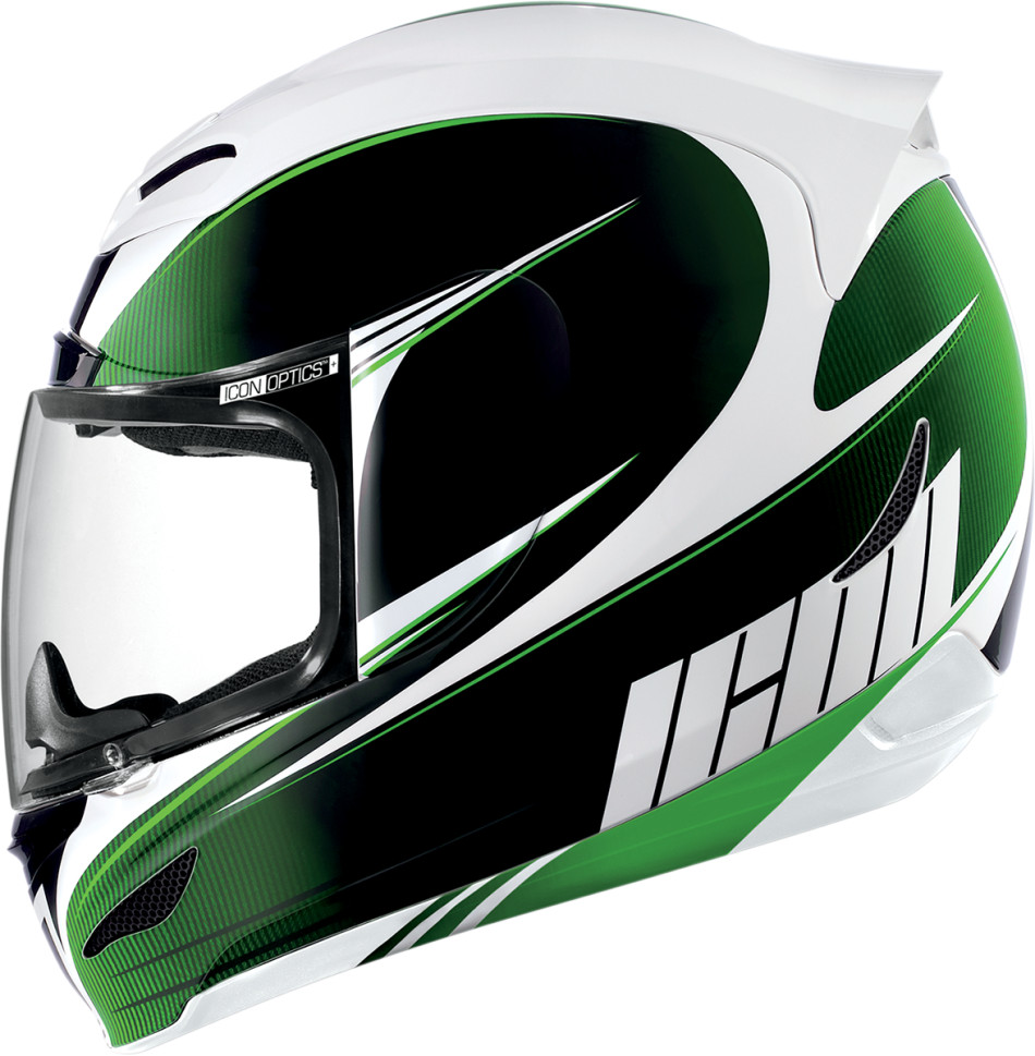 【ICON】HELMET AM SALIENT GRN 安全帽 - 「Webike-摩托百貨」