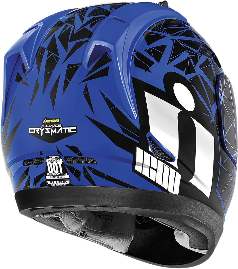【ICON】HELMET AL CRYSMAT BLUE 安全帽 - 「Webike-摩托百貨」