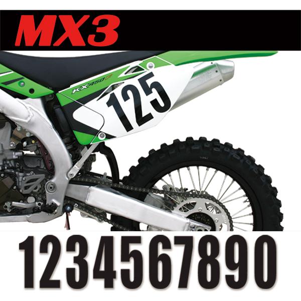 【MOTION】標準號碼牌 MX3 - 「Webike-摩托百貨」