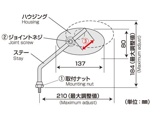 【TANAX NAPOLEON】復古型後視鏡 - 「Webike-摩托百貨」