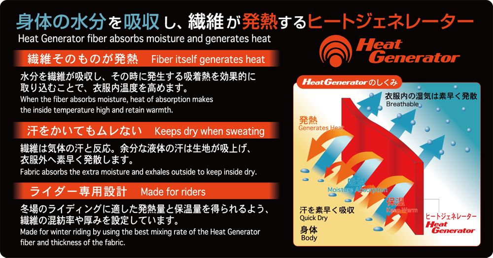 【RS TAICHI】Heat Generator X 內穿褲 - 「Webike-摩托百貨」
