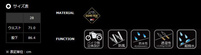 【POWERAGE】GORE-TEX ®女用靴型牛仔褲 femme - 「Webike-摩托百貨」