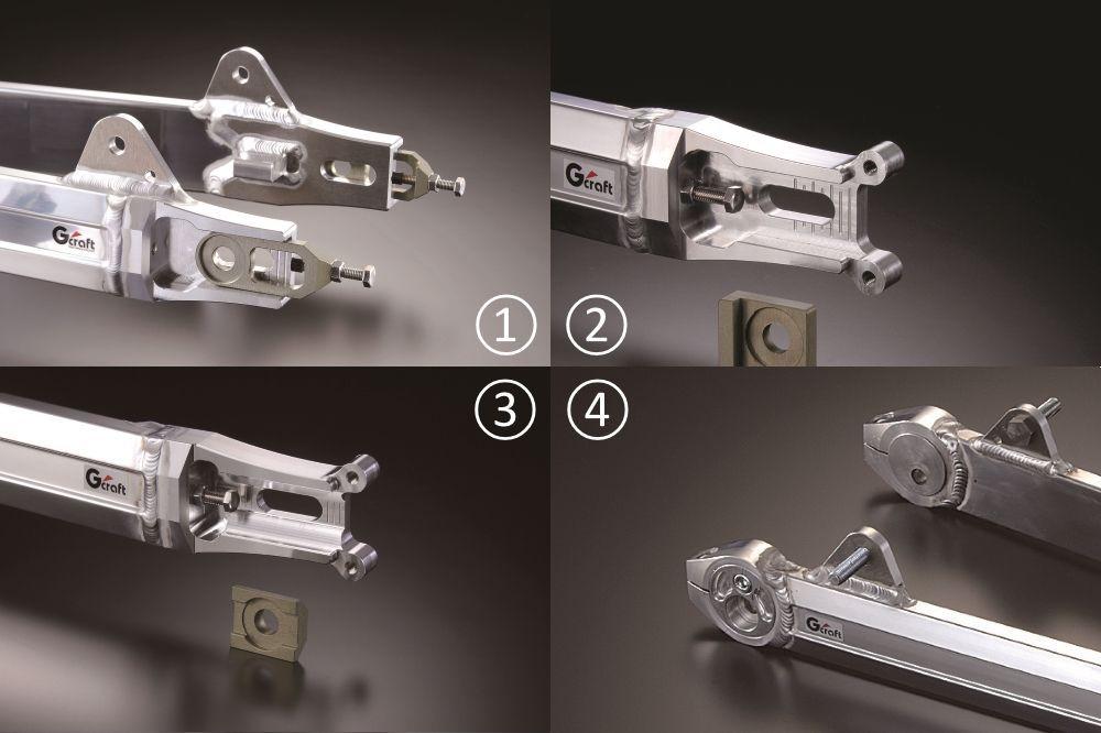 【G-Craft】NSR Linkless Type MONO SHOCK多角型後搖臂 (附平衡支架) 加長4cm - 「Webike-摩托百貨」