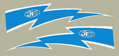 【HollyEquip】JT Racing Lightning Bolt 貼紙 10吋 PR - 「Webike-摩托百貨」