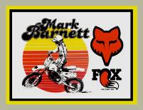 【HollyEquip】FOX Mark Barnett 貼紙 - 「Webike-摩托百貨」