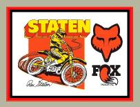 【HollyEquip】FOX Rex Staten 貼紙 - 「Webike-摩托百貨」