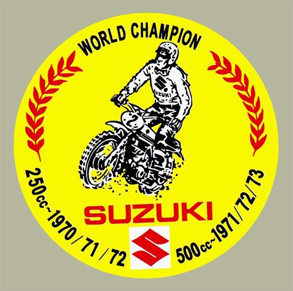 【HollyEquip】SUZUKI World Champion 貼紙 - 「Webike-摩托百貨」