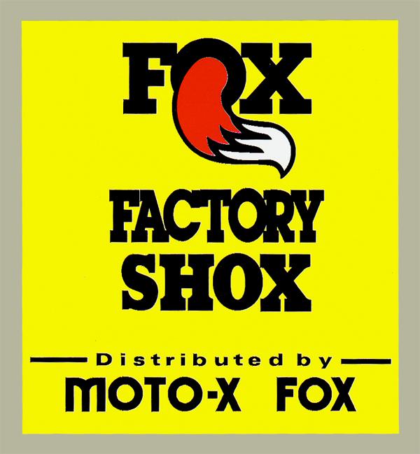 【HollyEquip】FOX Factory Shox Vintage Vertical 貼紙 - 「Webike-摩托百貨」