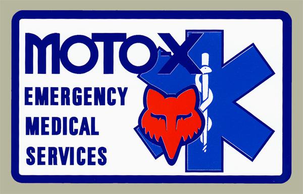 【HollyEquip】Moto-X FOX Medical Services 貼紙 - 「Webike-摩托百貨」
