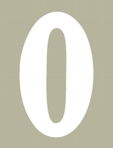 【HollyEquip】O Brien 數字貼紙#0 - 「Webike-摩托百貨」