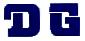【HollyEquip】DG Logo貼紙(深藍色) - 「Webike-摩托百貨」
