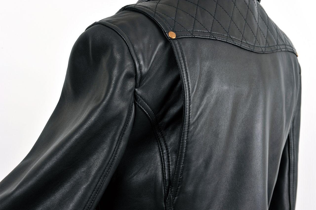 451cef5c5a57 ... Rosso StyleLab ロッソ スタイルラボ:ダブルライダースレザージャケット レディース