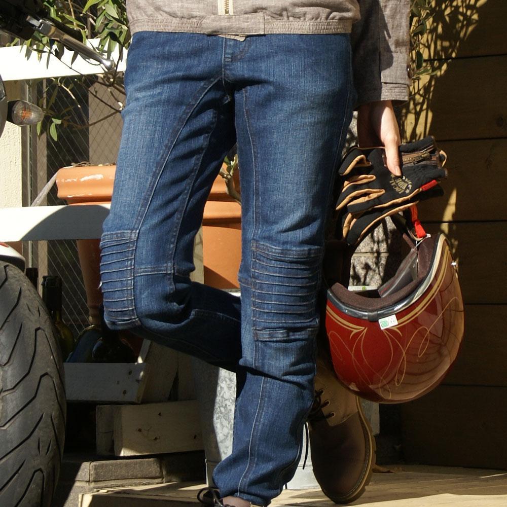 【Rosso StyleLab】舒適彈力丹寧修身牛仔褲 - 「Webike-摩托百貨」