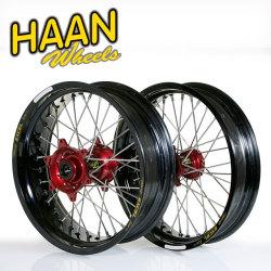 HAAN WHEELS ハーンホイール:フロント・リアモタードコンプリートホイール F3.50/16.5インチ-R5.00/17インチ
