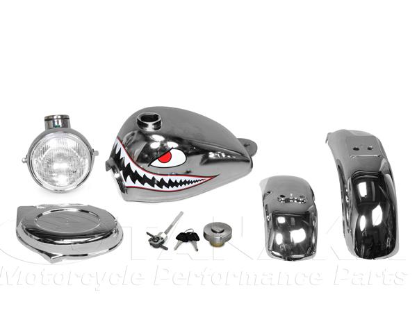 【田中商會】Shark 電鍍油箱 外觀套件 5件組 - 「Webike-摩托百貨」