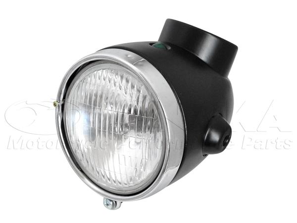 【田中商會】4L Type 鋼製頭燈整組/亞黑色 - 「Webike-摩托百貨」