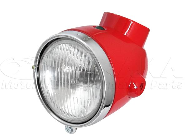 【田中商會】4L Type 鋼製頭燈整組/紅色 - 「Webike-摩托百貨」