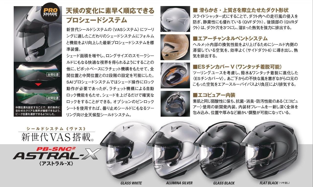 【Arai】ASTRAL-X 霧銀色 全罩式安全帽 - 「Webike-摩托百貨」