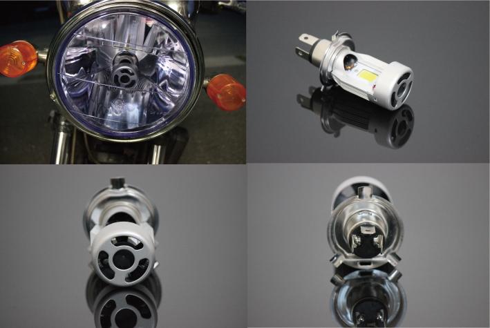 【MADMAX】LED 頭燈燈泡組 (H4/HS1 附散熱鰭) - 「Webike-摩托百貨」