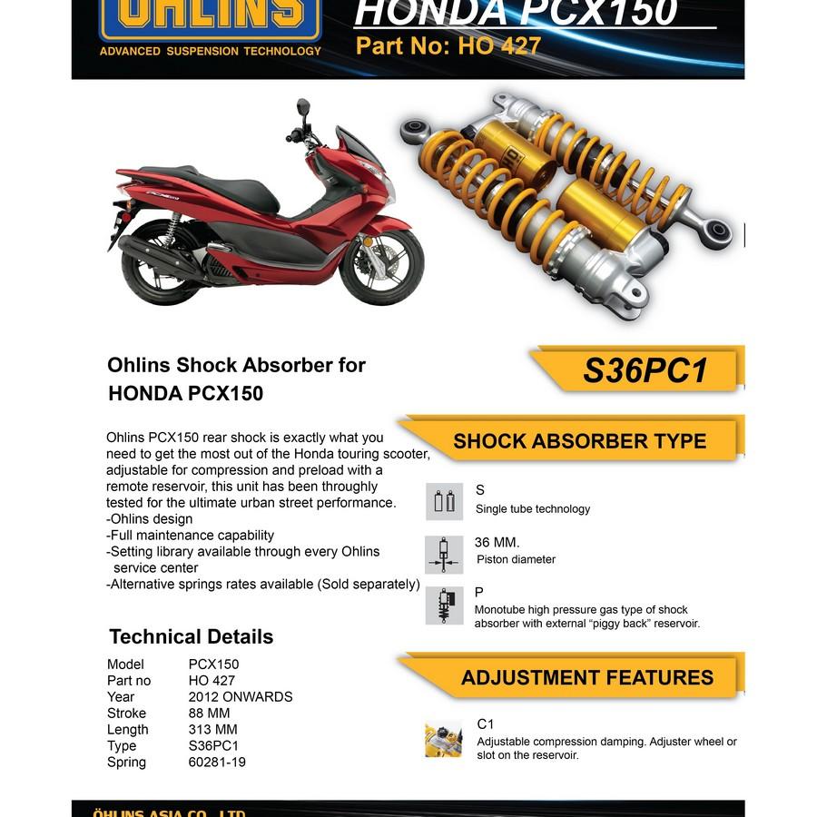 【OHLINS】Ohlins 避震器 (For Honda PCX150) - 「Webike-摩托百貨」
