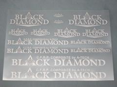【A-TECH】Black Dimond 貼紙 1 - 「Webike-摩托百貨」