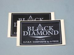 【A-TECH】黑色鑽石貼紙(小) - 「Webike-摩托百貨」