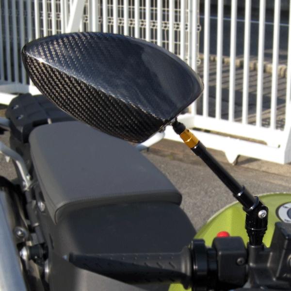 【A-TECH】全方向可調式碳纖維後視鏡 /無整流罩 款式用 Type 6 - 「Webike-摩托百貨」