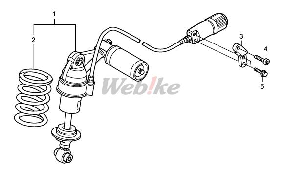 【HRC】預載調整器支架 - 「Webike-摩托百貨」