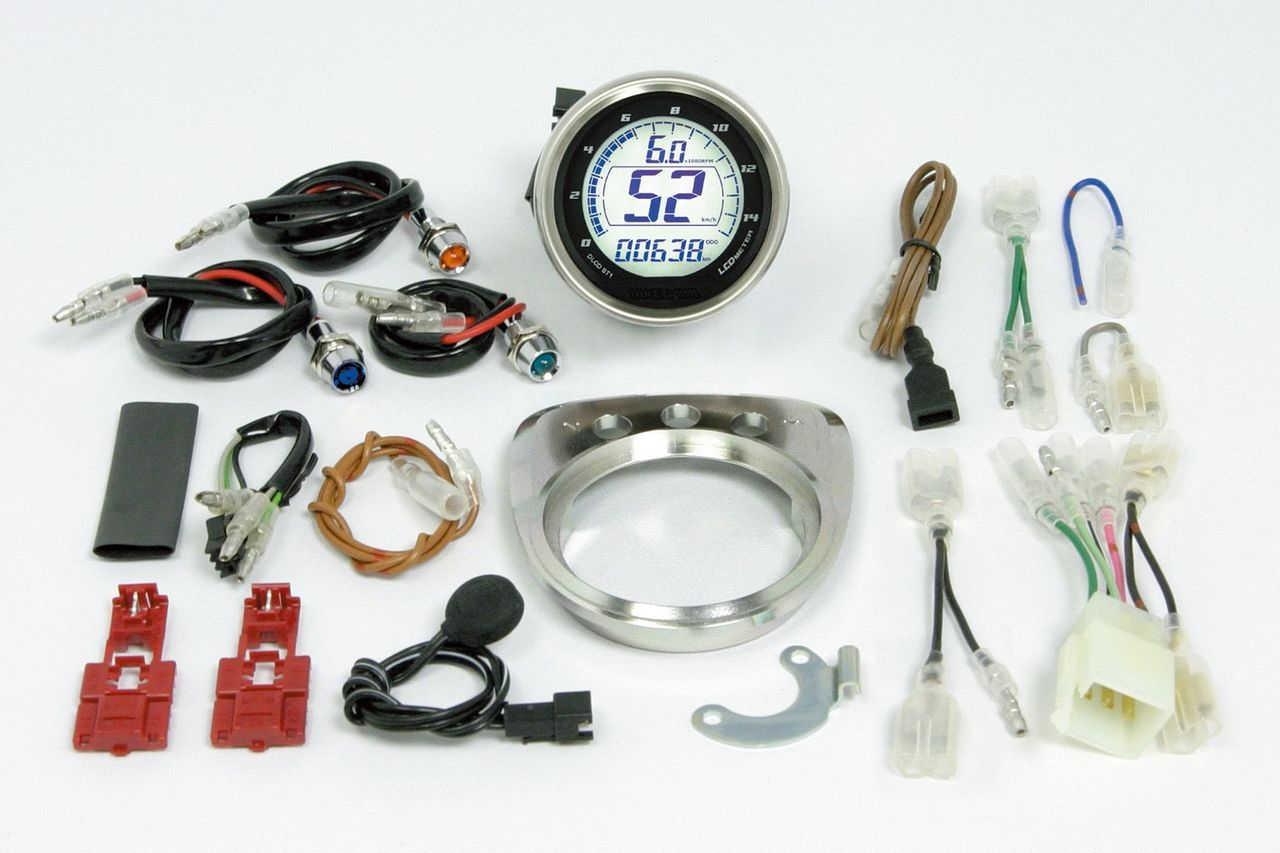 D Type LCD Speedometer & Tachometer Kit