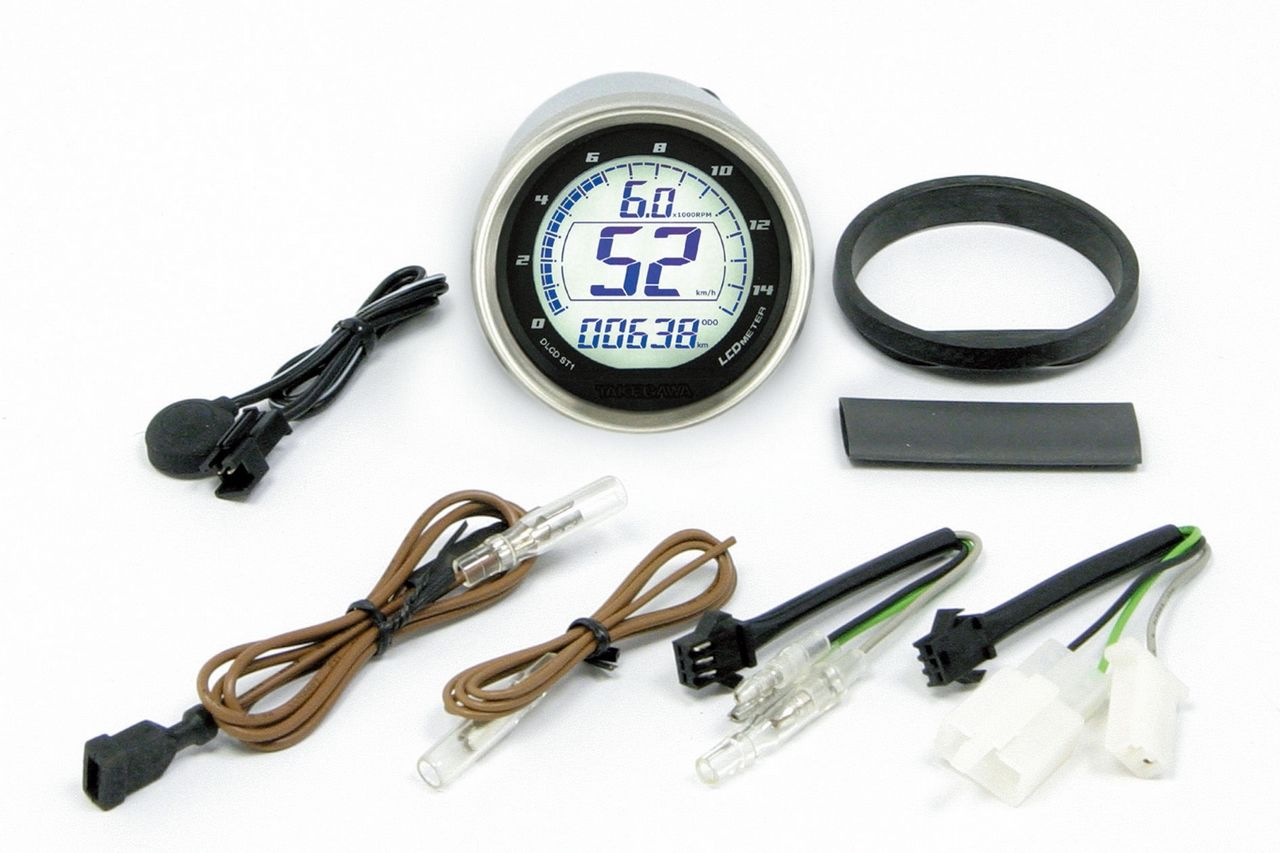 D Type LCD Speed & Tachometer (for STD Light Case)