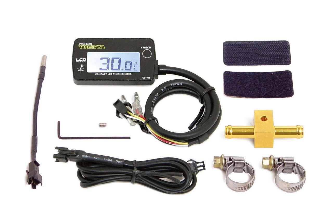 【SP武川】LCD 綜合溫度錶組(外部電源背光型式附Φ8溫度感之器轉接頭) - 「Webike-摩托百貨」