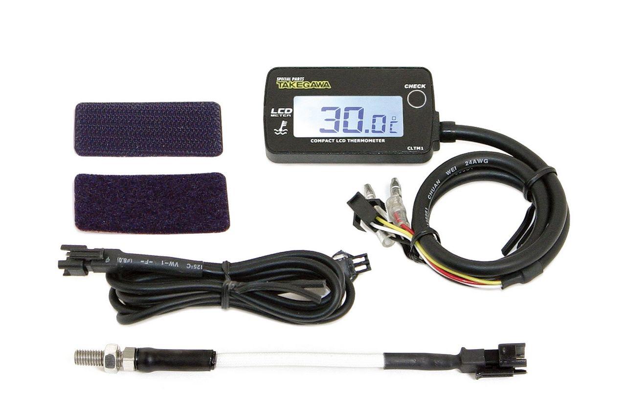 【SP武川】LCD 綜合溫度錶組(外部電源背光型式附M5感知器) - 「Webike-摩托百貨」