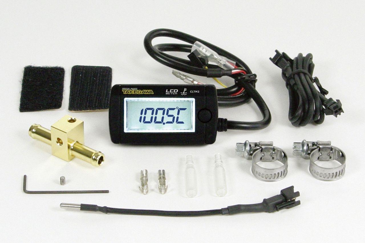 【SP武川】LCD 綜合溫度錶組(電池驅動/外部電原背光型式附Φ8溫度感知器) - 「Webike-摩托百貨」